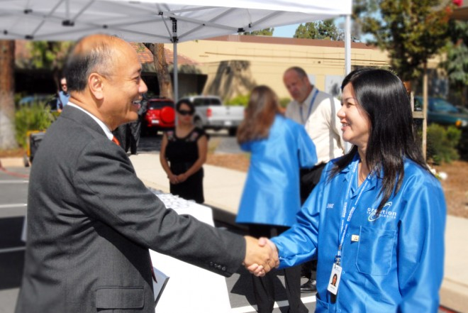 Mayor of Milpitas Jose Esteves and Jennie Tran