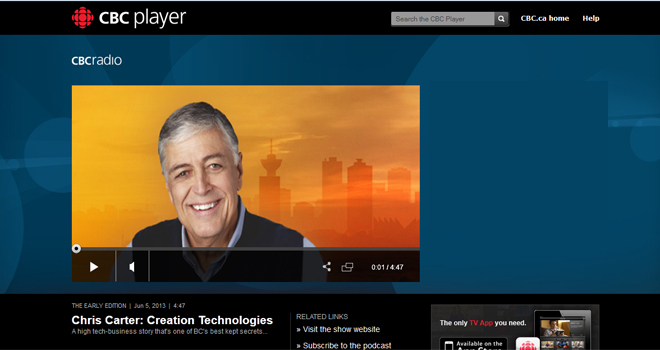 Creation Technologies Spotlighted on CBC's The Early Edition