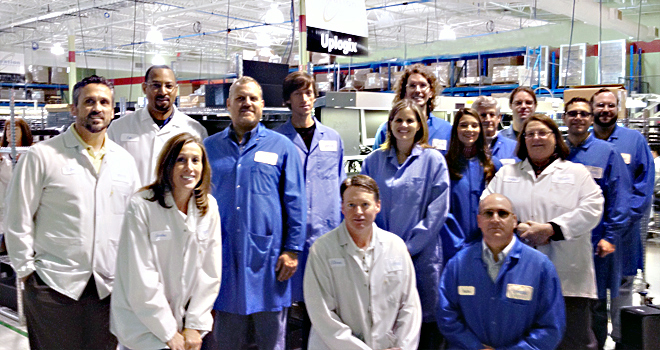 The Creation-Uplogix Team stops for a quick photo in Creation's Dallas Business Unit