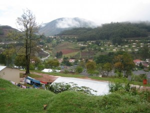 This view shows Bulembu from the opposite direction (top row of homes)