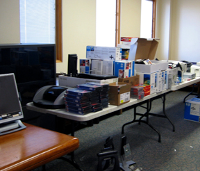 Yet more of the IT equipment donations in Bob's office