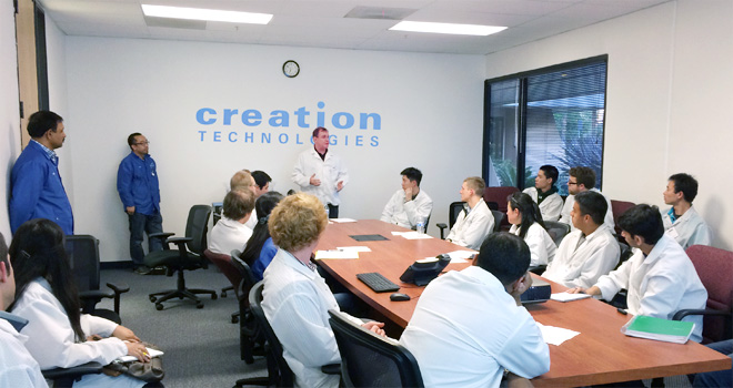 Students from San Jose State University during EMS Industry information session hosted by SMTA Silicon Valley and Creation Technologies