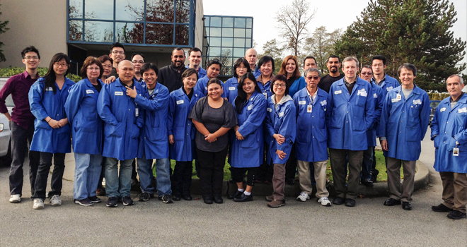 Our Creation Technologies Vancouver team that builds the CardeaScreen medical device