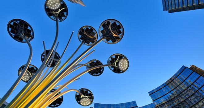 illuminazione led  fotovoltaico a Milano Porta Nuova