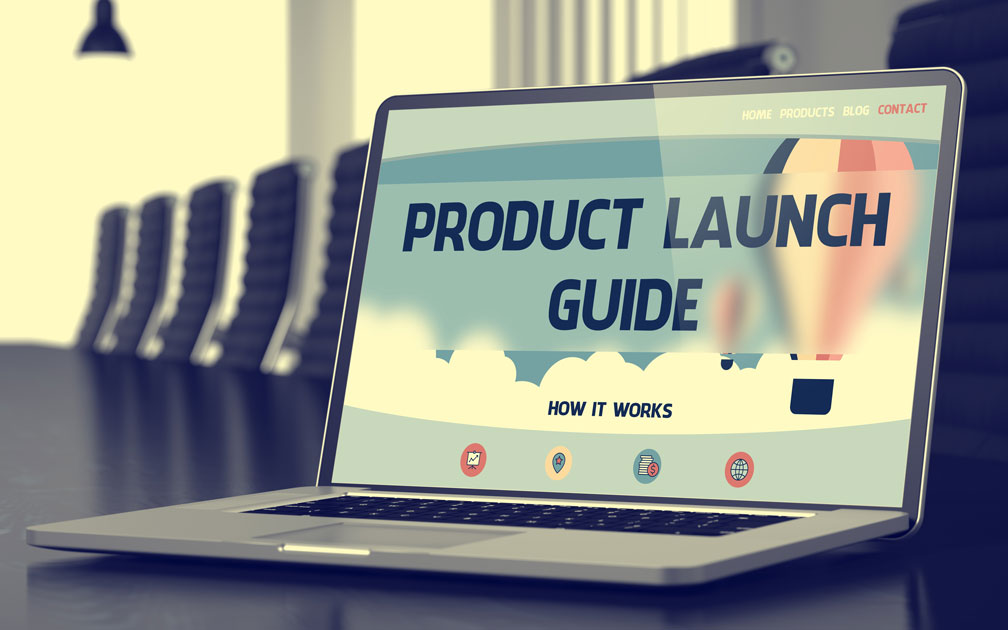 Product Launch Guide How It Works on laptop