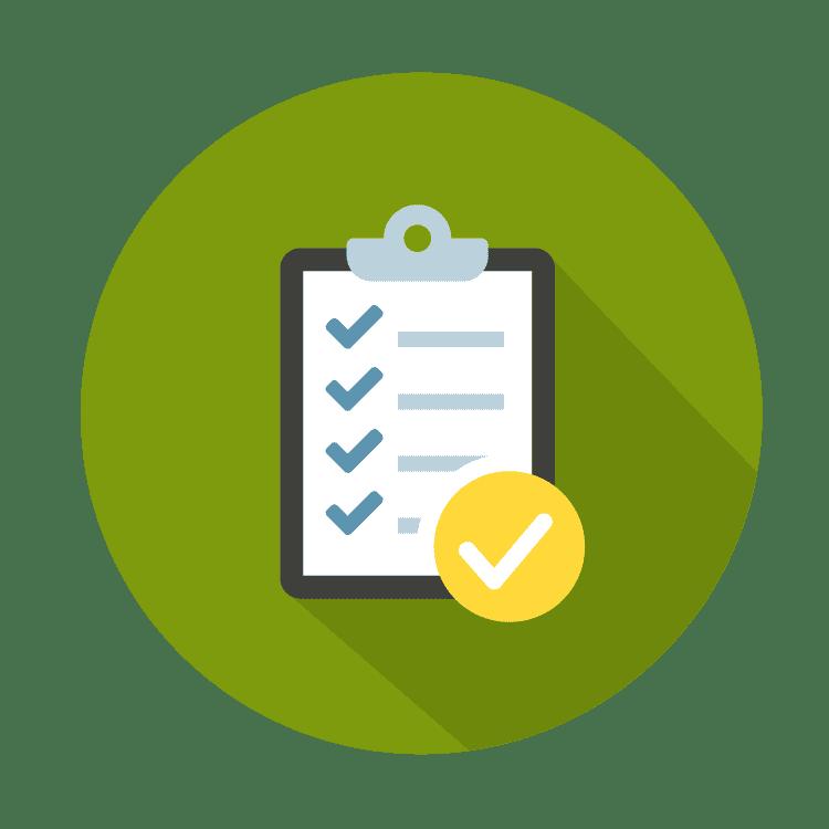 icon of clipboard and checklist